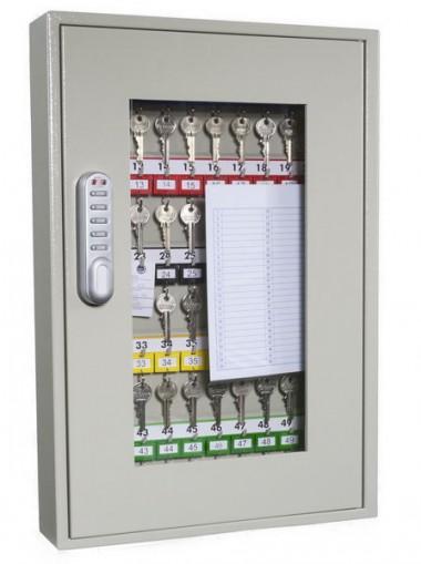 KC0403E - Cofre/armário, porta c/ janela, de proteção e gestão de chaves - 50