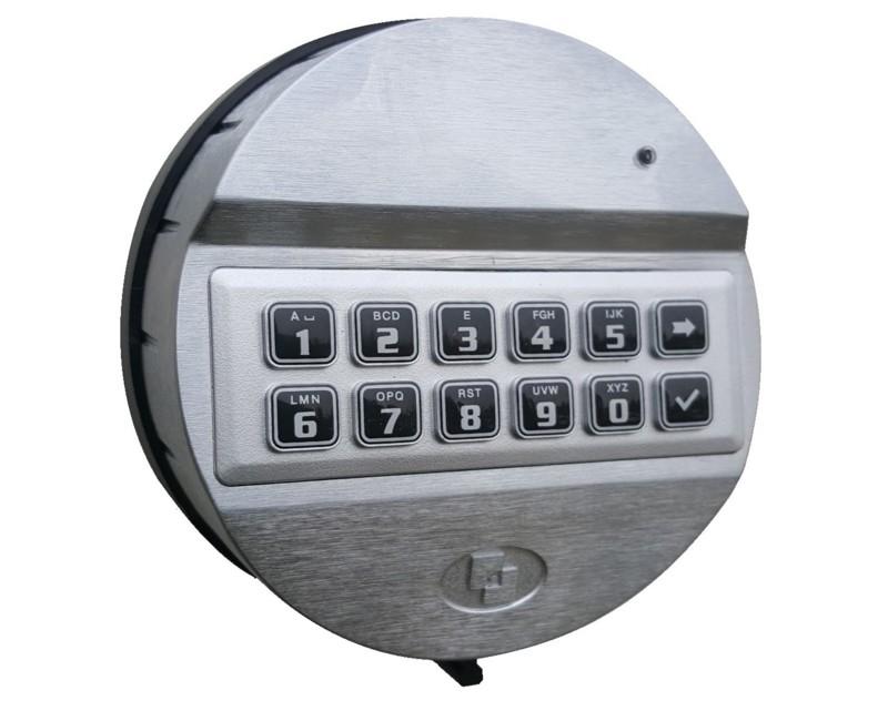 T6530-R Teclado Pulse com placa de rotação. Metal cromado. VdS Clase 2 - UL Tipo 1