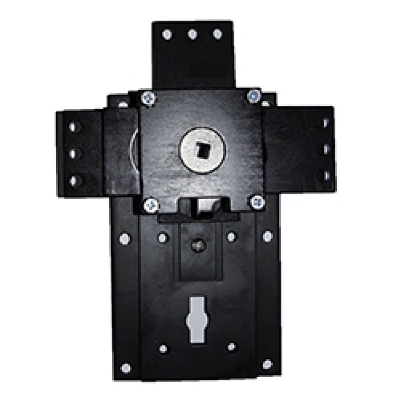 N203 Placa de montagem expansível de três lados e rebloqueio. Eixo de 8 mm.